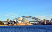 Sydney Opera House & Bridge from Macquarie's Point. — Stock Photo
