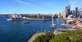 Sydney Harbour & Opera House Panorama from the Bridge. — Stock Photo