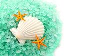 Sea salt granules. — Stock Photo