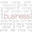 BUSINESS. Word collage on white background — Stock Photo