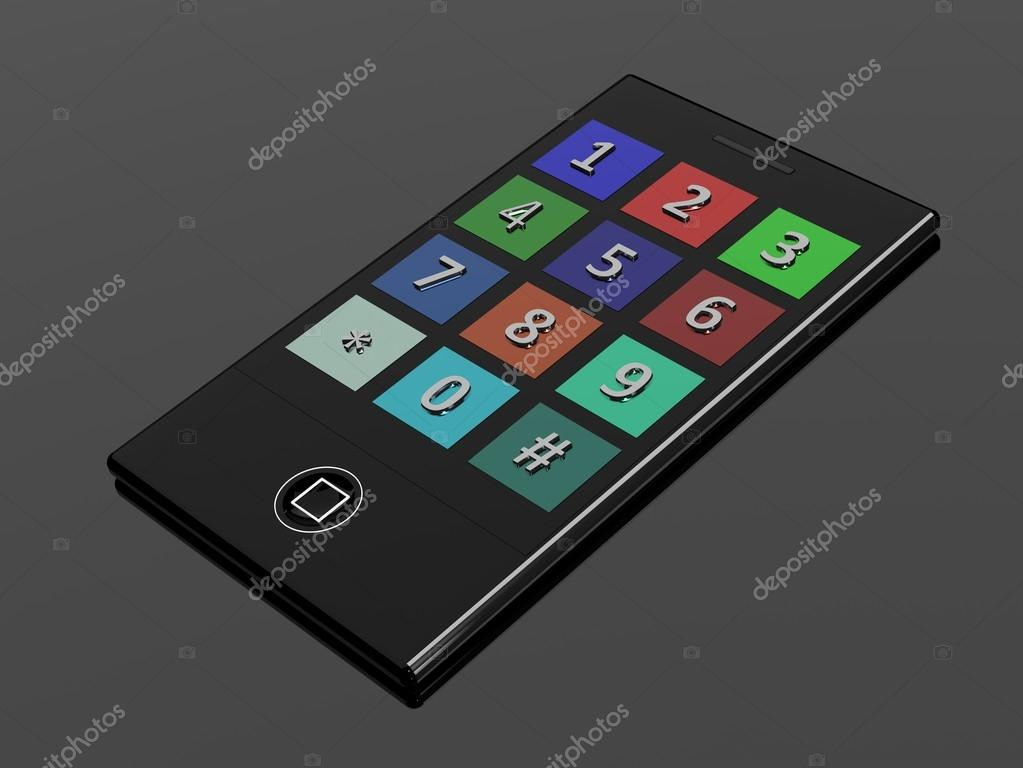 3D touchscreen mobile phone — Stock Photo #13399813