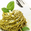 Stock Photo: Spaghetti with pesto sauce