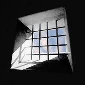 Okno więzienia — Zdjęcie stockowe