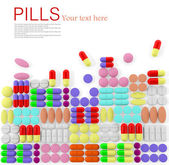 Pills background — Stock Photo