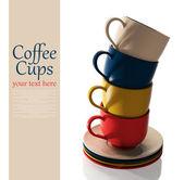 Conjunto de copos coloridos — Foto Stock
