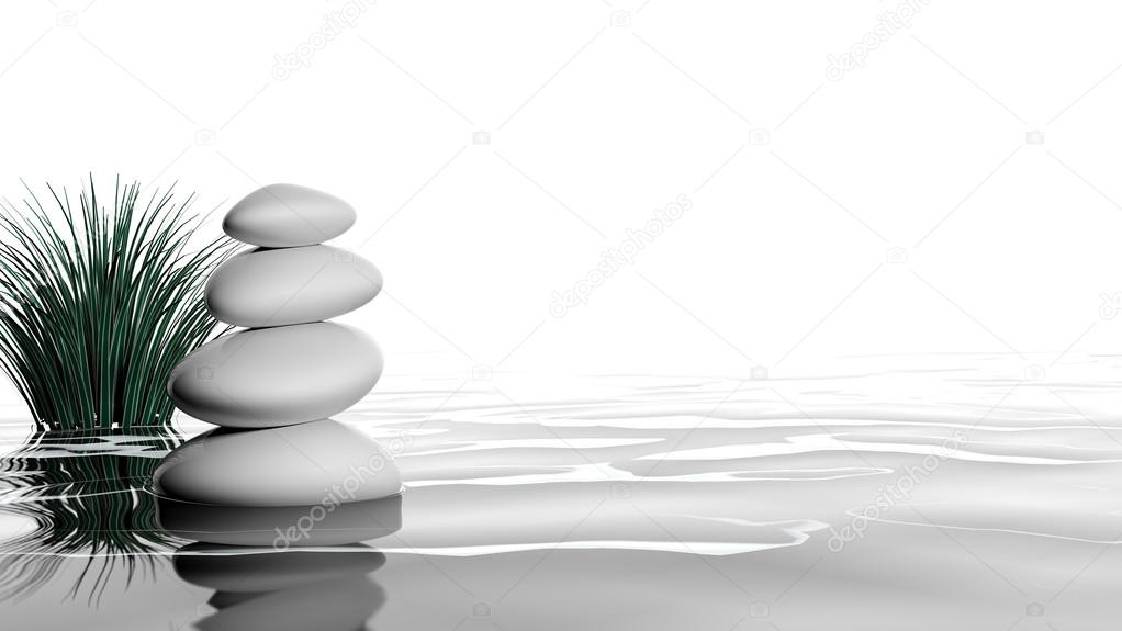 Piedras zen en el agua foto de stock viperagp 14881329 for Fotos piedras zen