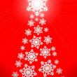 Stock Photo: Christmas tree made of snowflakes