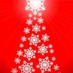 Christmas tree made of snowflakes — Stock Photo #15846013