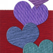 Textile heart banner — Stock Photo #17865161