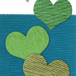 Textile heart banner — Stock Photo