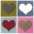 Textile heart collage — Stock Photo