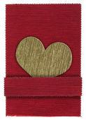 Textile heart shape — Stock Photo