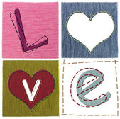 Textiel liefdesbrieven — Stockfoto