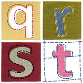 Textile letters collection — Stock Photo