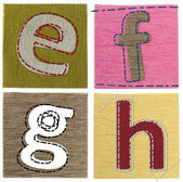Textile letters collection — Stockfoto