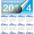 Stock Photo: 2014 monthly calendar