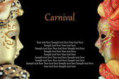 Vintage carnival masks on black background — Stock Photo