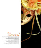 Carnival mask with copy-space — Stock Photo