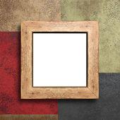 空の木製フレームの壁に — ストック写真