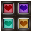 Modern love frame collection with heart design — Stock Photo