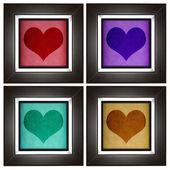 современная любовь кадр коллекции с сердца дизайн — Стоковое фото
