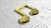 Golden music note — Stock Photo