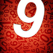 Number nine on fabric texture background — Stock Photo