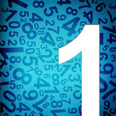 Number One on fabric texture background — Stock Photo