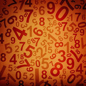 Numbers on fabric texture background — Stock Photo