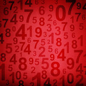 Numbers on fabric texture background — Foto de Stock