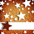 Blank greeting card on stars background — Stock Photo