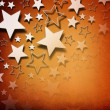 Stars on vintage grunge background - Stock Photo