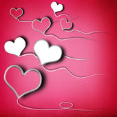 Valentines day background with heart shaped kites — Stock Photo