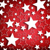 Stars on vintage grunge red background — Stock Photo