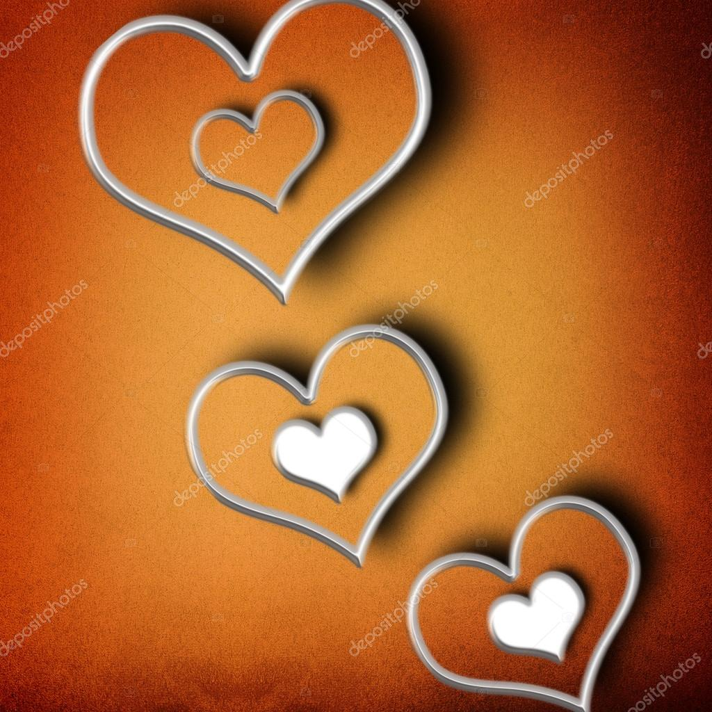 Valentines day background with hearts  — Stock Photo #20820489