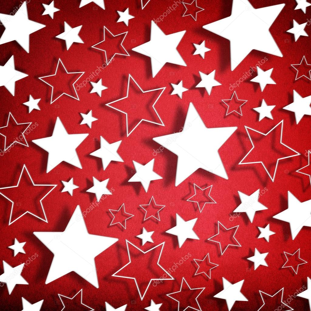 Stars on vintage grunge red background — Stock Photo ...