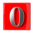Number zero icon — Stock Photo