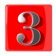 Number three icon — Stock Photo #22266845