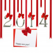 Stock Photo: New year 2014 card