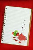 Pintura de gastronomía molecular sobre fondo blanco — Foto de Stock