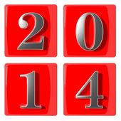 3d numaraları yeni yıl 2014 — Stok fotoğraf