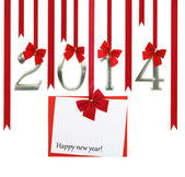 The new year 2014 card — 图库照片