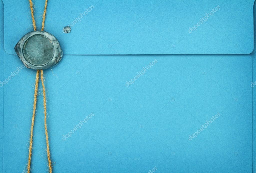 enveloppe bleue avec cachet de cire cacheter photo 22267231. Black Bedroom Furniture Sets. Home Design Ideas