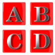 Royalty-Free Stock Photo: 3d Letters collection icons