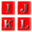 3d Letters collection icons — Stock Photo