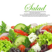 Close up of fresh mixed vegetables salad — Stock Photo
