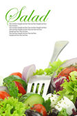 Vicino di insalata di verdure miste fresche — Foto Stock