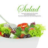 Bir kase taze karışık sebze salatası — Stok fotoğraf