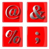 3d-symbolen collectie iconen — Stockfoto