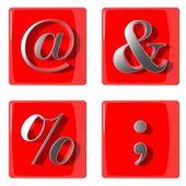 Icone di raccolta simboli 3d — Foto Stock